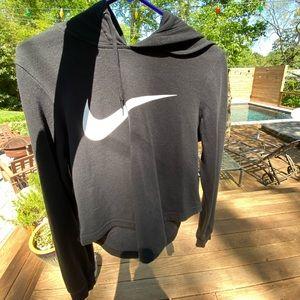 Nike cropped black hoodie